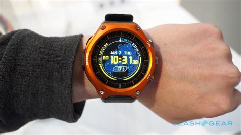 rugged smartwatch casio android wear on rugged and slashgear