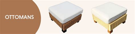 ottoman cushions uk rattan ottomans with and without cushions uk
