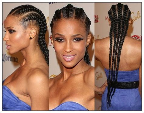 big cornrow hairstyles for black women with bangs big cornrows braided hairstyles for black girls trendy