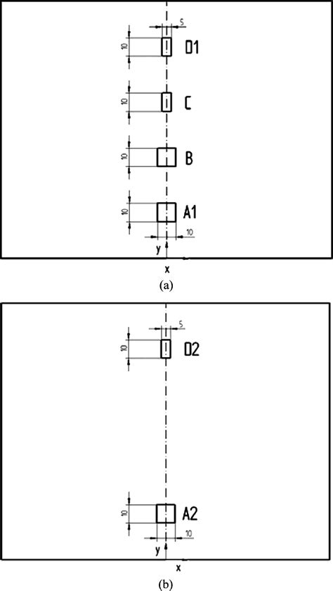 Layout, position, and size (in scale) of defects inserted