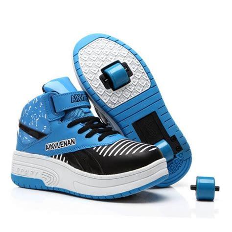 baskets chaussures 224 roulettes enfants roller heelys roue bleu bleu tu achat vente