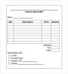 Excel Sales Receipt Template Sample Sales Receipt Template 9 Free Documents In Word Pdf