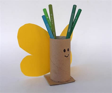 How To Make A Pencil Holder With Paper - craftsboom butterfly pen holder