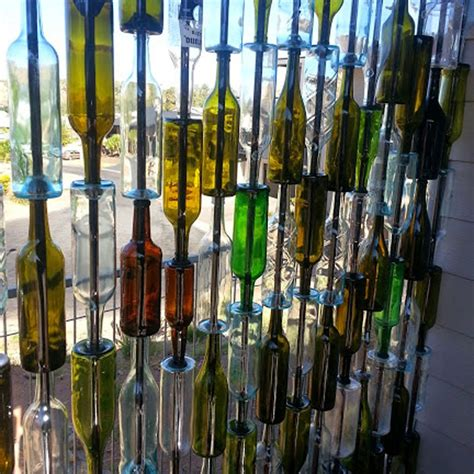 Wine Bottle Wall diy wine bottle wall wine bottle crafts 10 new uses