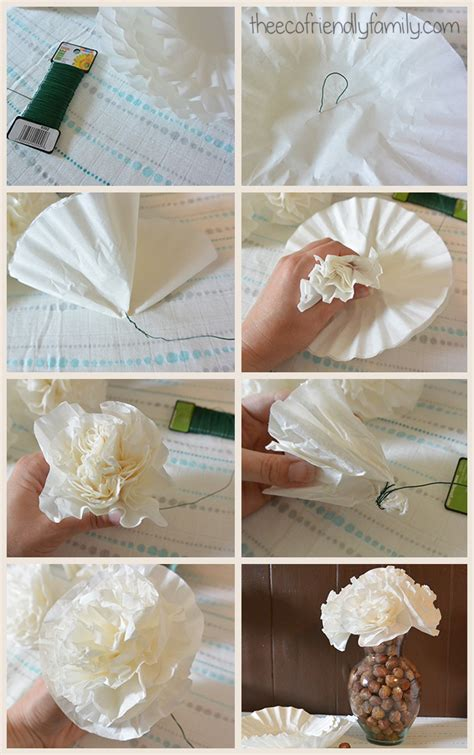 How To Make Paper Flowers Out Of Coffee Filters - how to make paper flowers out of coffee filters 28