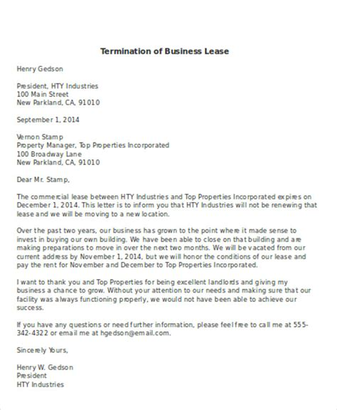 termination letter sle at will termination letter sle business partner 28 images