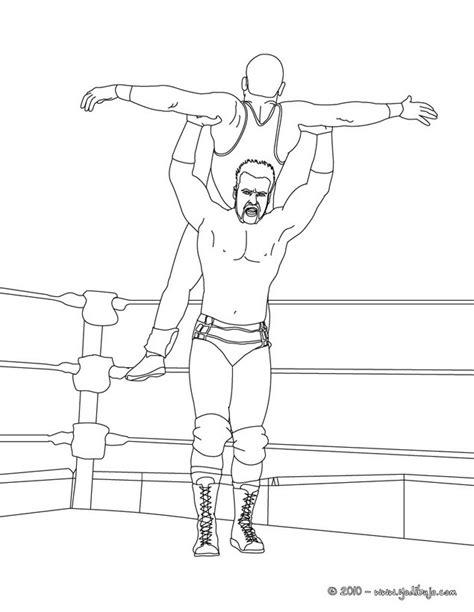 imagenes para colorear wwe dibujos para colorear luchadores es hellokids com