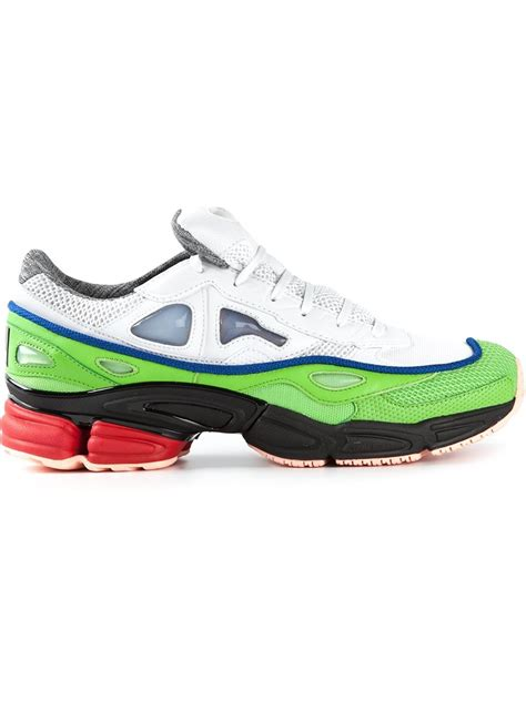 adidas by raf simons ozweego 2 sneakers in green for white lyst