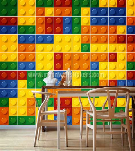 Lego Wall Sticker bricks wall tiles stickers