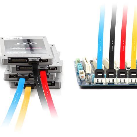 Kabel Sata Set deleycon sata3 kabel set gerade gerade 50cm bunt