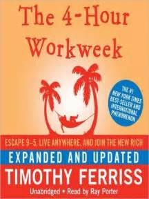 libro the 4 hour workweek escape listen to 4 hour workweek expanded and updated escape 9 5 live anywhere and join the new