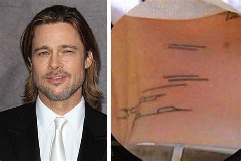 brad pitt new tattoo 20 tattoos you wouldn t expect to see on these