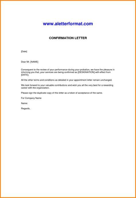 Confirmation Letter Of Appointment 10 Employer S Letter Confirming Employment Cashier Resumes