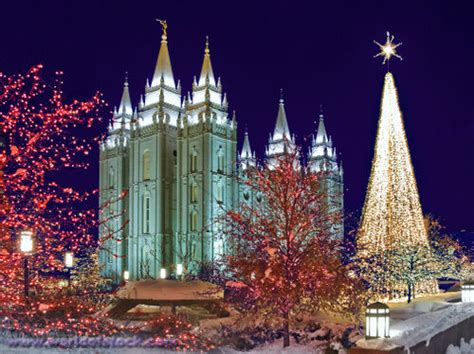 Lights On Temple Square Christmas Lights At Historic Lights Salt Lake City