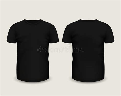 men s black t shirt short sleeve in front and back views