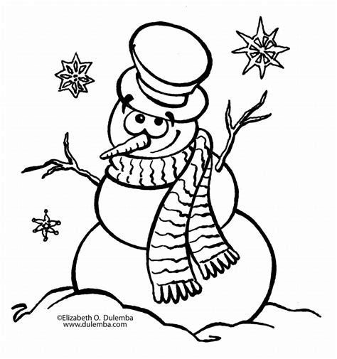 Snowman Coloring Pages Free Printable Snowman Coloring Pages