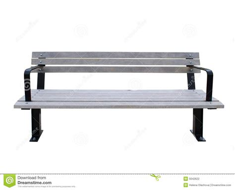white park bench park bench isolated on white stock photography image 5042622