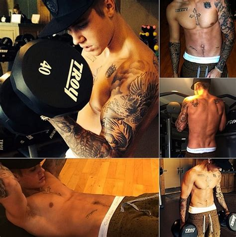 justin bieber underarm tattoo justin bieber workout routine for the upper body chest