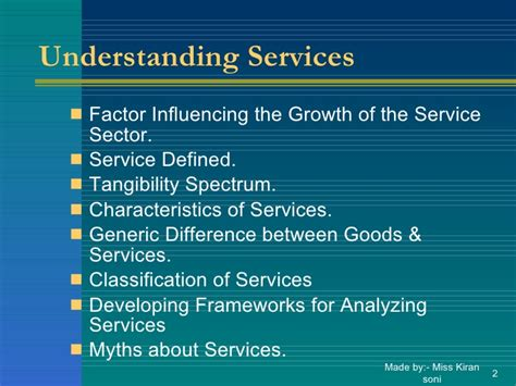 Service Marketing Notes For Mba by Mba Unit1 Marketing Of Services