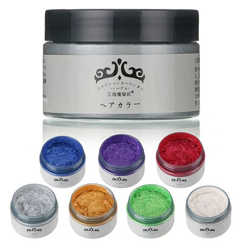 color wax unisex diy hair color wax mud dye temporary modeling