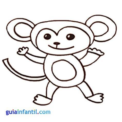 imagenes de monos faciles para dibujar dibujos para colorear de animales de la selva