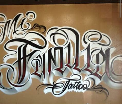 mi familia tattoo mi familia lettering chicano and