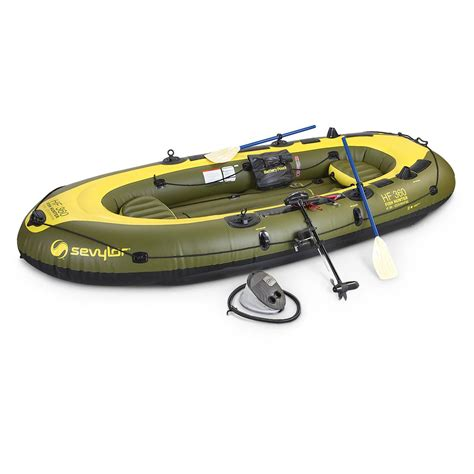 inflatable boat kit sevylor fish hunter inflatable boat kit 206714 boats at