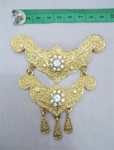 Anting Juntai Anting Panjang Anting 1 jual harga bros kebaya metal juntai 2 tingkat gold
