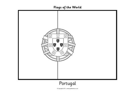 Page Of Portuguese Flag 1400s Coloring Pages Portugal Flag Coloring Page