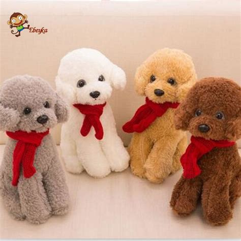 puppy doll aliexpress buy 30cm scarf tactic plush poodle doll simulation high