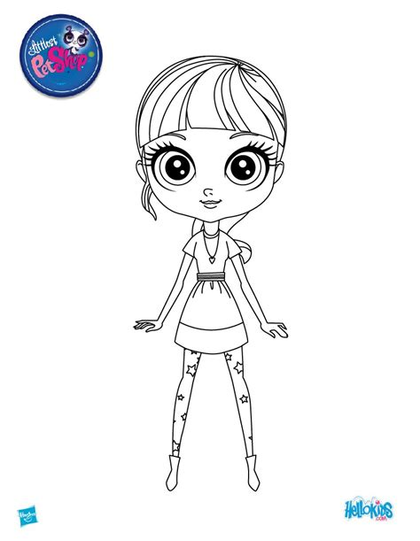blythe from littlest pet shop coloring pages hellokids com