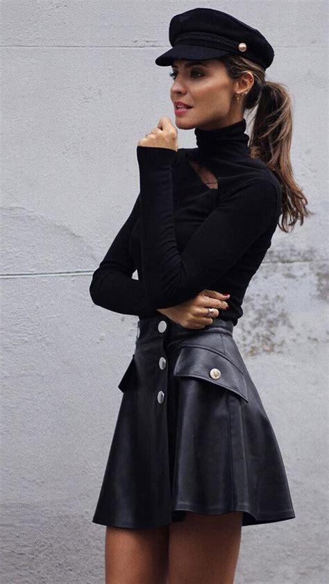 faldas cuero faldas de cuero c 243 mo combinar y d 243 nde comprar las m 225 s