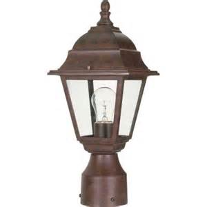 home depot outdoor lights glomar 1 light outdoor bronze incandescent post light