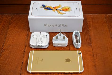gold iphone 6s plus unboxing photos