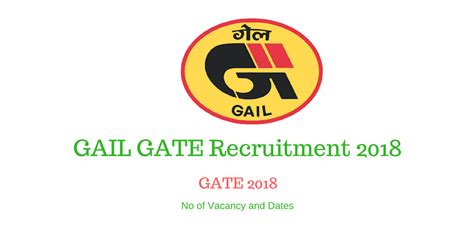 Gail Mba Recruitment 2017 by Gail Gate Recruitment 2018 Gas Authority Of India Limited