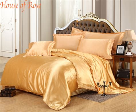 gold silk comforter aliexpress com buy luxury gold silk duvet cover sets
