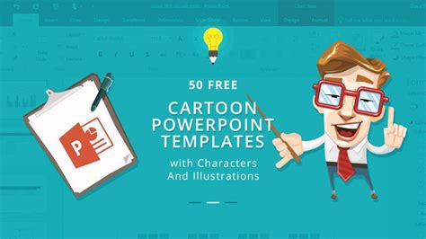 cartoon powerpoint templates  characters