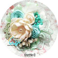 gelang cantik dengan lace dan flowers bunga http koleksiwiji aksesoris vaila bros renda pita