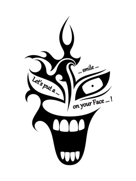 lets put a smile on your face joker tattoo tattoos