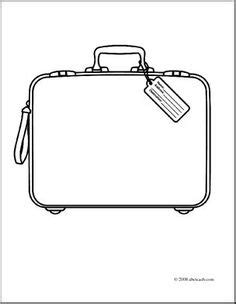 blank suitcase template suitcase pattern use the printable outline for crafts creating stencils scrapbooking and