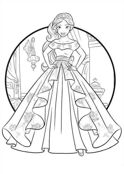 printable coloring pages elena of avalor coloring page elena of avalor coloring pages pinterest