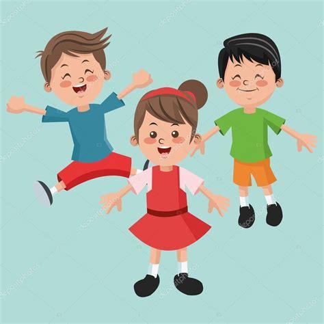 imagenes niños felices animadas grupo de ni 241 os felices y ni 241 as dibujos animados ni 241 os