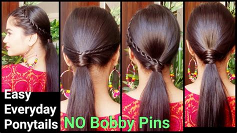 everyday indian hairstyles for medium hair 3 easy everyday ponytail hairstyles for medium to long