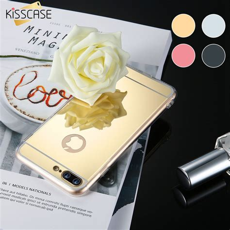 Iphone 5 5s 5g Se Luxury Soft Mirror Cover Ring kisscase luxury mirror for iphone 5 5s 5g se phones accessories armor cover for iphone 7 6