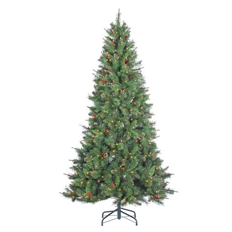 home depot indoor christmas tree lights sterling 7 5 ft pre lit layered copper and silver frasier