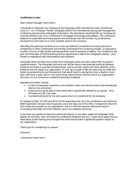 certification justification letter best photos of employee justification letter exle