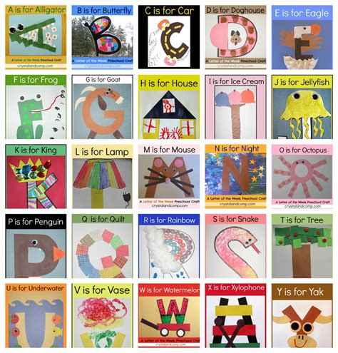 the w h o l e books letter of the week crafts