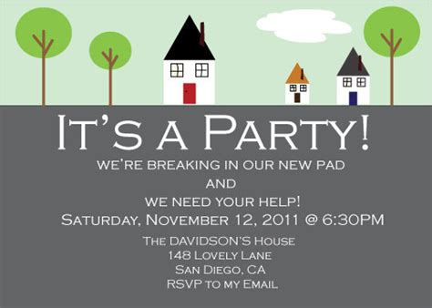 new home party decorations house warming party invitation
