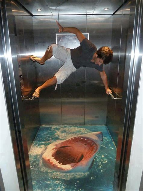 3d bathroom floor art amazing 3d art on elevator floor