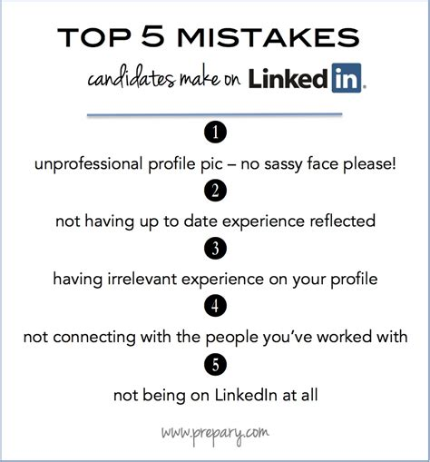 the top 5 mistakes candidates make on linkedin the prepary the prepary